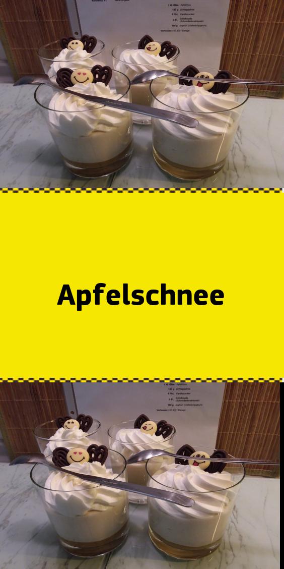 Apfelschnee #einfachernachtisch