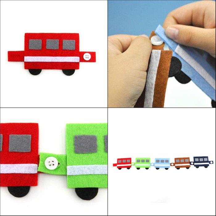 楽天市場 手作りフェルト教材 つなげて遊びながら学べる ボタンをとめる練習 電車 日本製 知育教材 知育玩具 フェルト あす楽 お受験用品 ハッピークローバー 布のおもちゃ おもちゃ 絵本 手作り