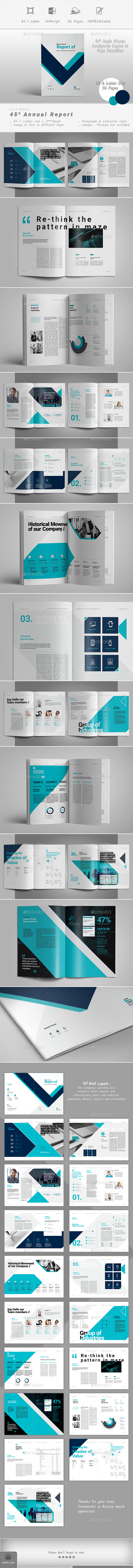 Annual Report Template InDesign INDD | Présentation | Pinterest ...