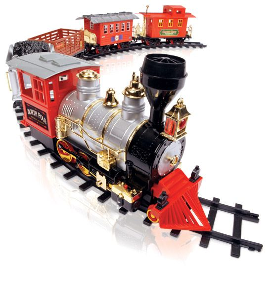 blue hat toy company north pole junction christmas train set 33 piece - North Pole Junction Christmas Train