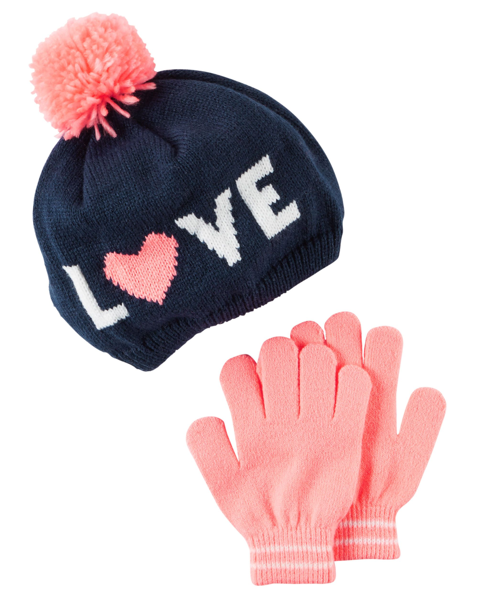 e73470ccf Kid Girl Hat & Gloves Set | Carters.com | EVERYTHING FOR GIRLS ...