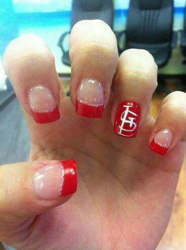 st louis cardinal nail art