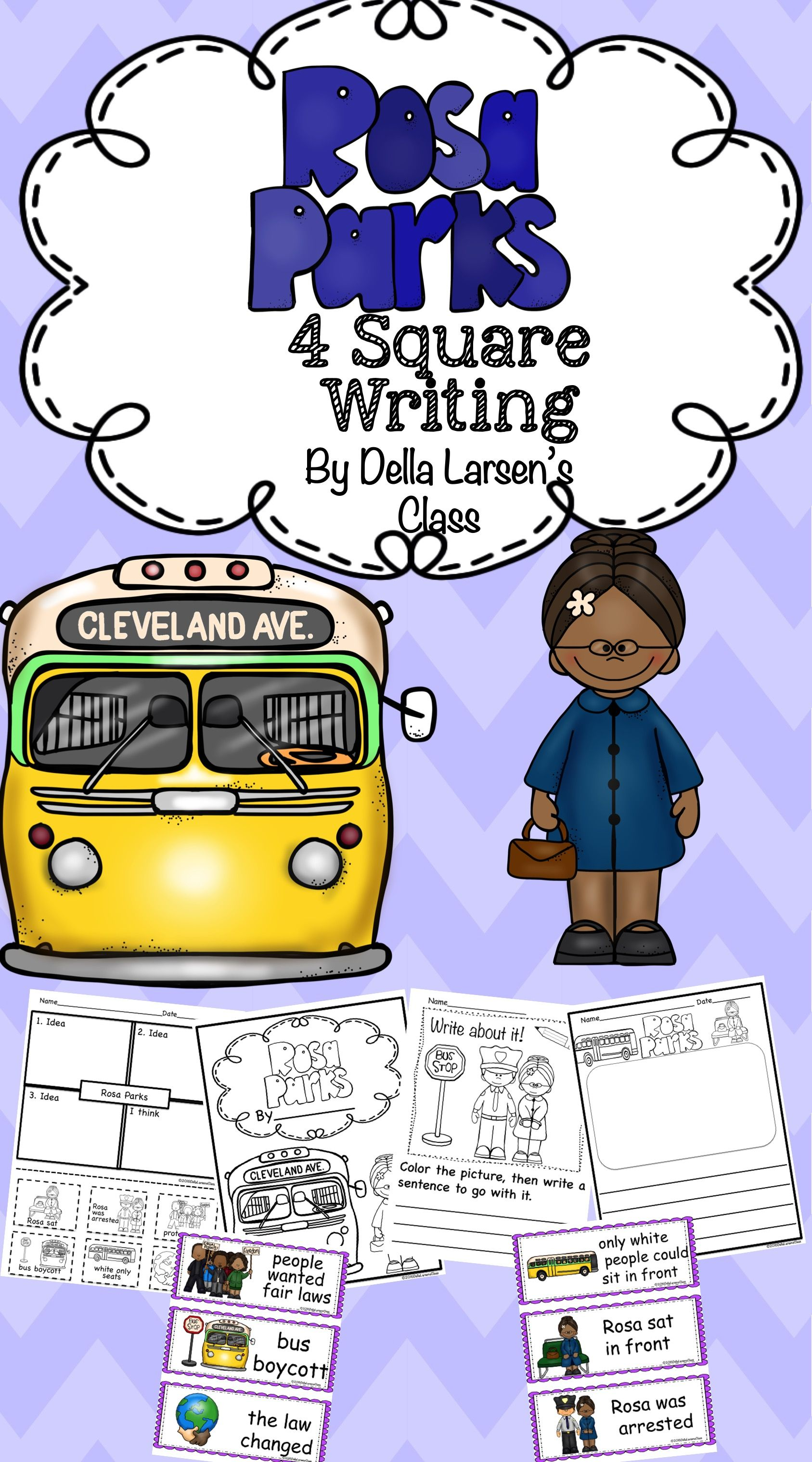 Rosa Parks 4 Square Writing
