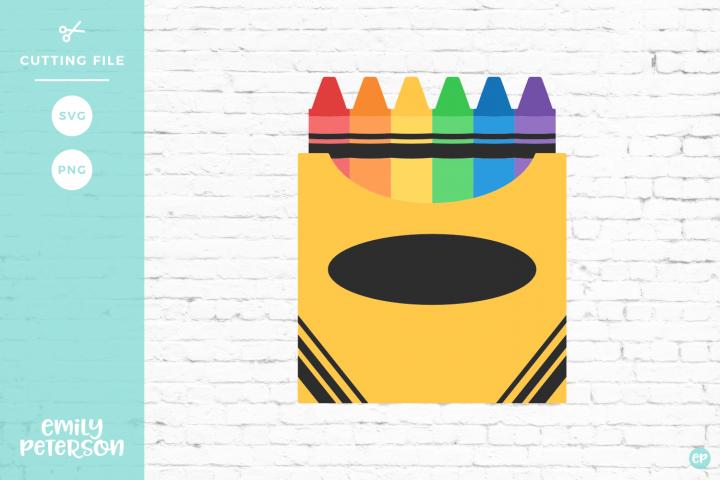 Box Of Crayons Clipart Svg Crayon Box Crayon Box Template