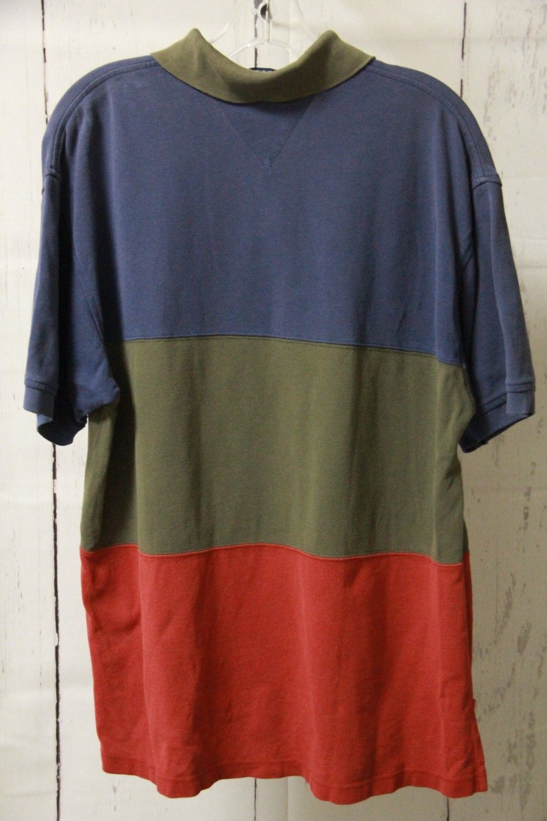 177006af Vintage 90s Tommy Hilfiger Color Block Polo Shirt Mens Size Medium  Multicolor | eBay
