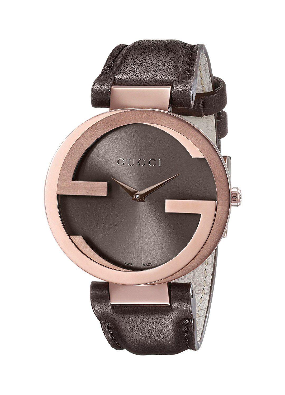 174483092d6 Amazon.com  Gucci Interlocking Brown Strap Women s Watch(Model YA133309)   Gucci  Watches