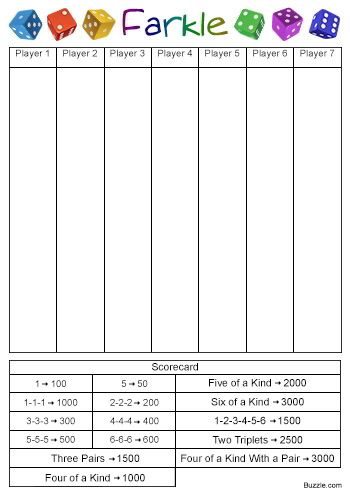 Yahtzee Score Sheet Free Download Create Edit Fill And Print