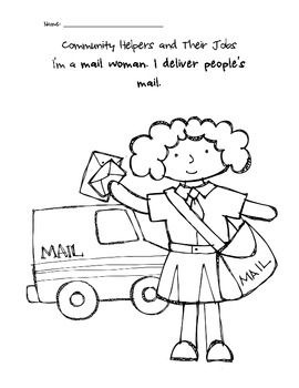 Community Helpers Coloring Pages Community Helpers Community Helpers Preschool Community Helpers Unit