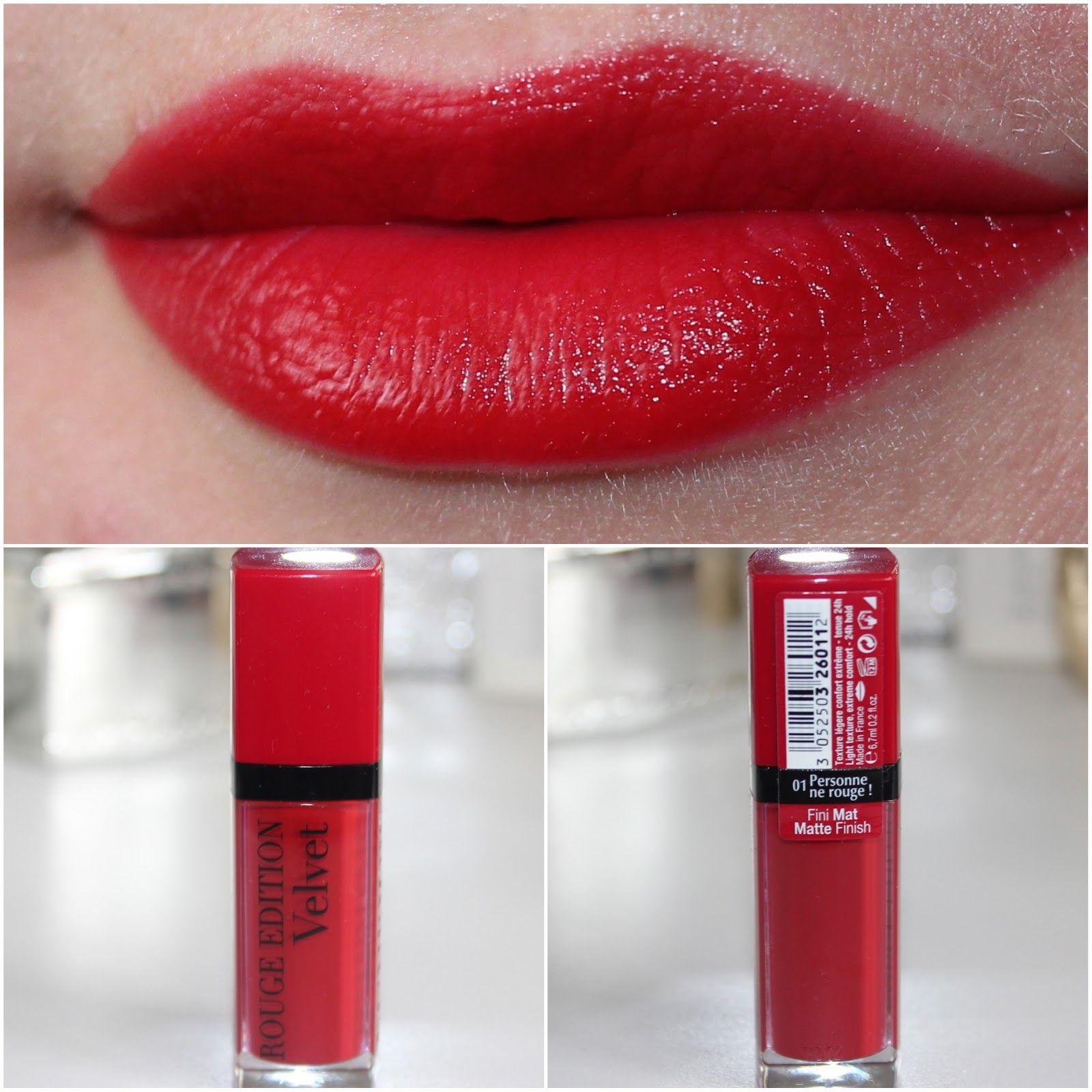 Bourjois Rouge Edition Velvet Lipstick 01 Personne Ne Rouge