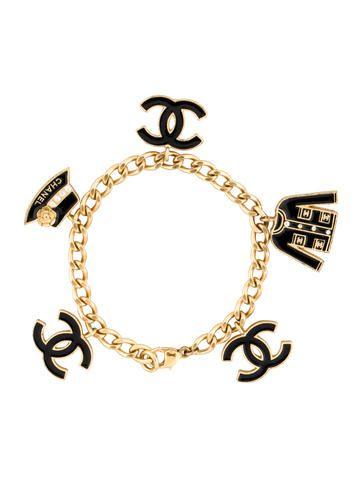 Chanel Cc Charm Bracelet Chanel Jewelry Bracelets Chanel Charm