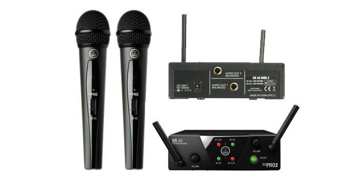AKG WMS40 Pro Mini 2 Dual Vocal Set -  SISTEMA MICROFONICO WIRELESS PER VOCE #AKG