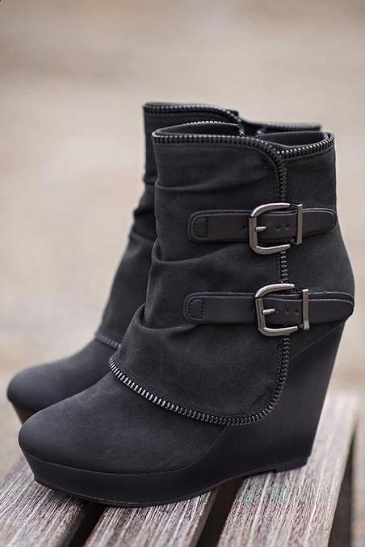 69af5f261066 Want a fresh pair of wedge heel ankle boots this season  Find a great  selection of women s wedge booties   ankle boots at Vinny s Digital  Emporium.