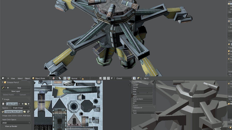 Fractal Combat' game asset, Hard Surface Modeling