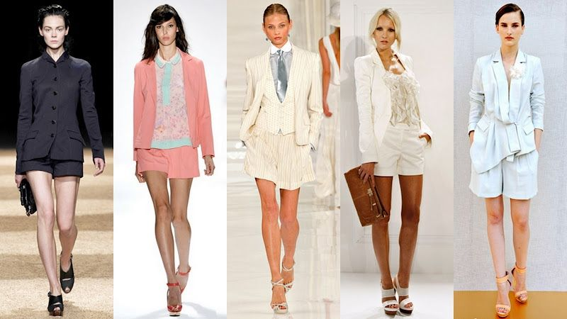 Womens Shorts And Blazer Suit