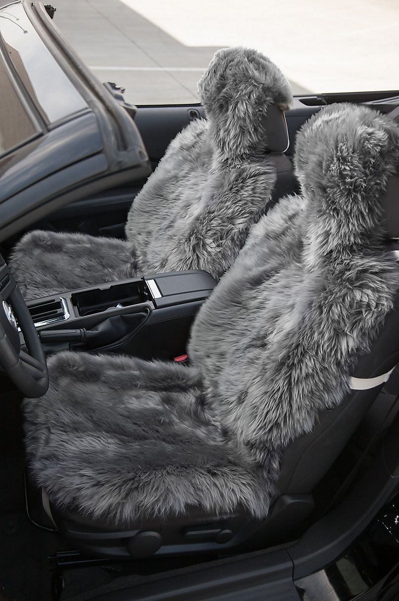 Universal Long Wool Sheepskin Car Seat Cover Overland