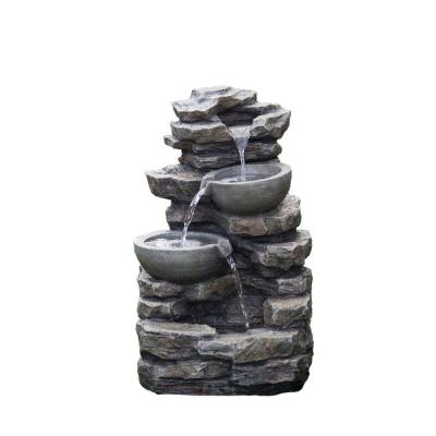 Jeco Rock And Pot Waterfall Water Fountain Without Light Fcl081