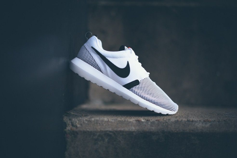 official photos 0b7c0 b30a1 Nike Roshe Run NM BR White Black chose this photo because I love shoes and  I like how the white contrast with the dark back ground