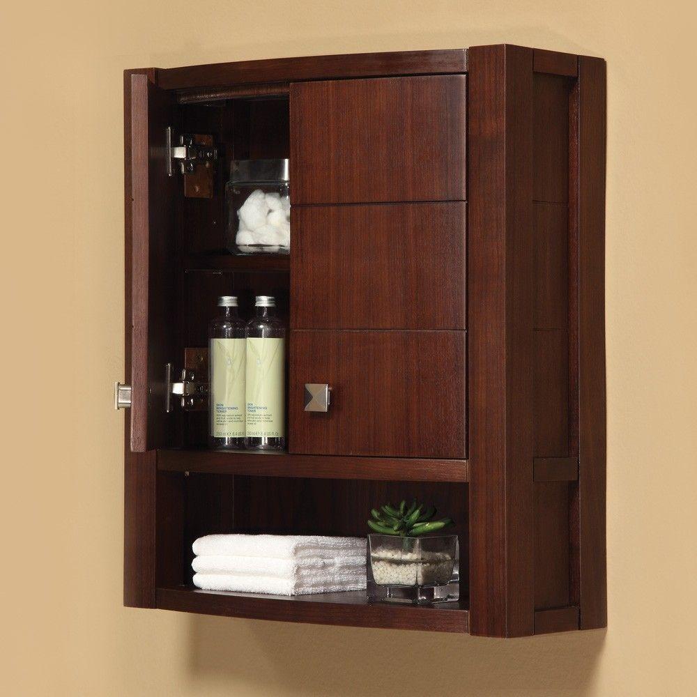 Resultado de imagen para gabinetes de pared para ba o for Gabinetes de bano en madera