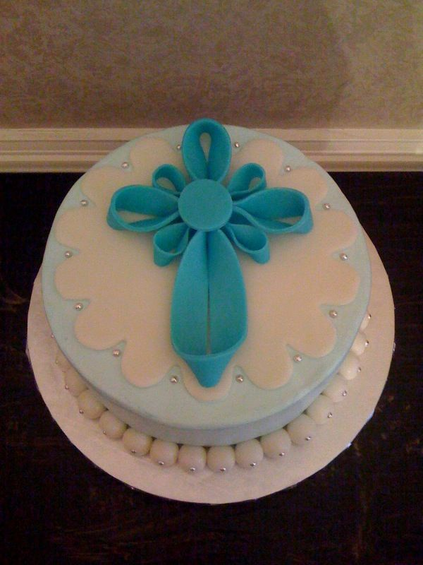 Fun Cakes For Adults Sweet Melissas Braydens Baptism Cake