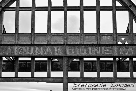 White Star Black Lines    Pier 54 - NYC. The remains of the Cunard White Star Pier. (Destroyed by NYC in 1991.) It was the pier that welcomed the Titanic survivors.