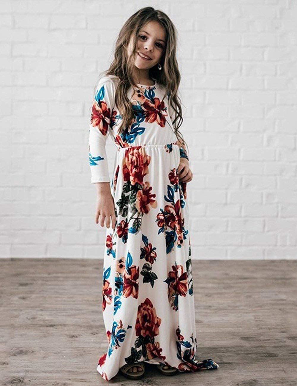Best For The Stylish Kids Girls Floral Maxi Dress Kids Casual 3 4 Sleeve T Shirt Dresses Pocket For Toddlers 6 Girls Maxi Dresses Maxi Dress Basic Maxi Dress [ 1300 x 1000 Pixel ]