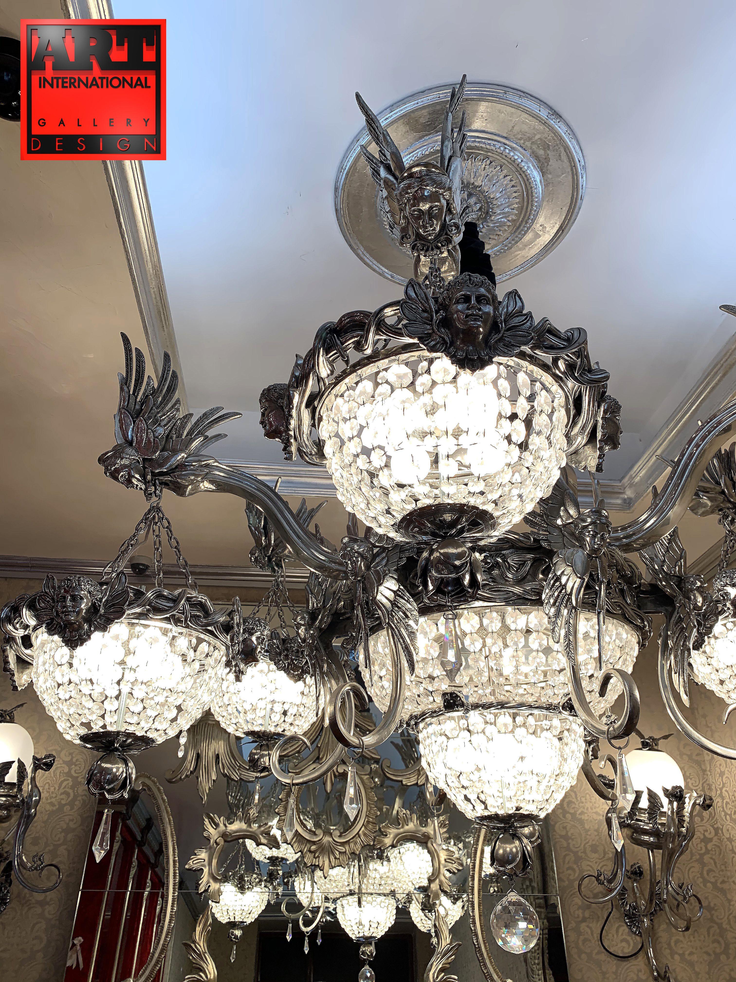 Contemporary & luxury crystal designer chandelier