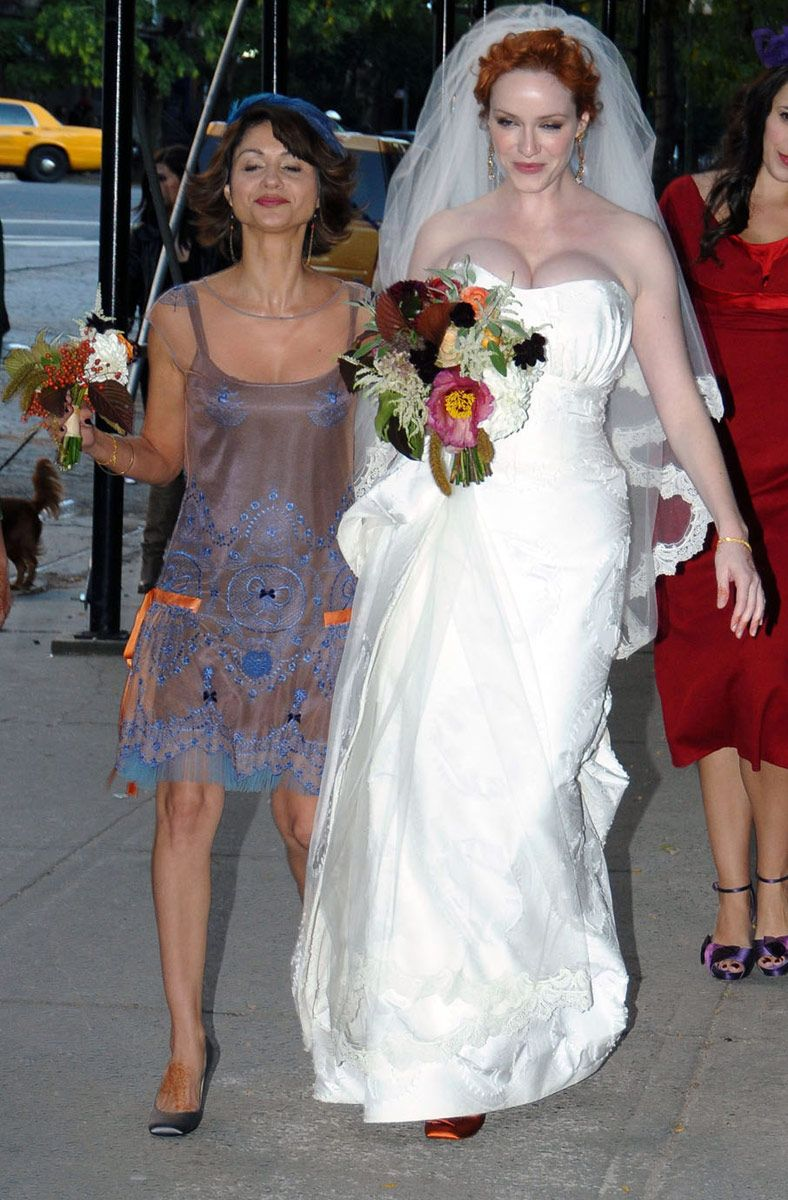 Christina big tits wedding dress