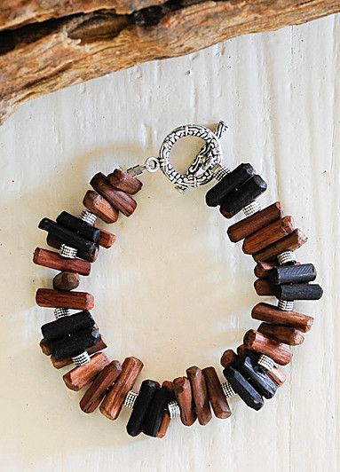 Mukwa & black wood bracelet - Driftwood Collection