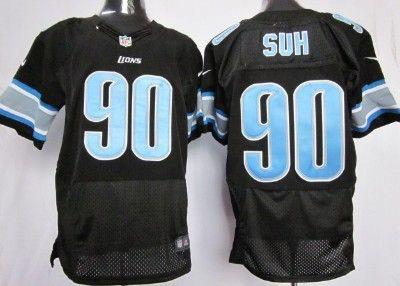 Hot Nike Detroit Lions #90 Ndamukong Suh Black Elite Jersey | NFL