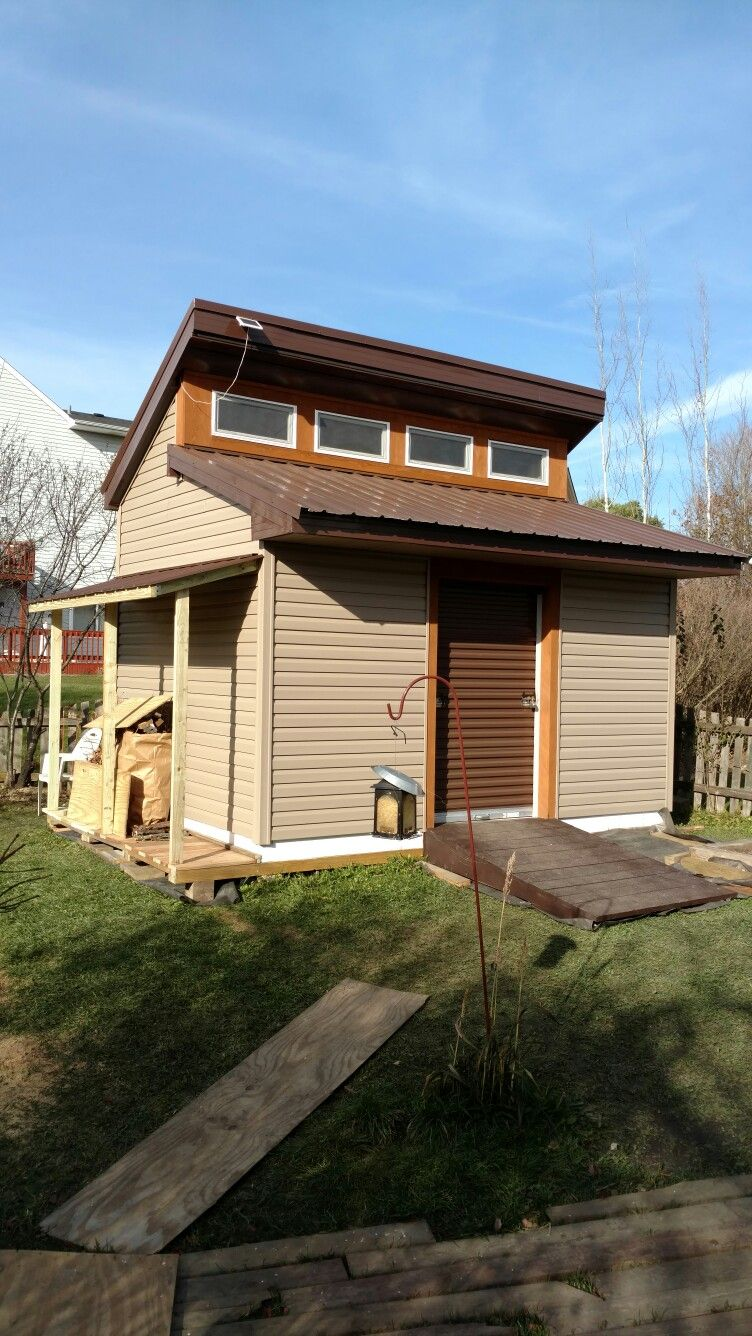 the backyard shed we built or is it a tiny house you decide
