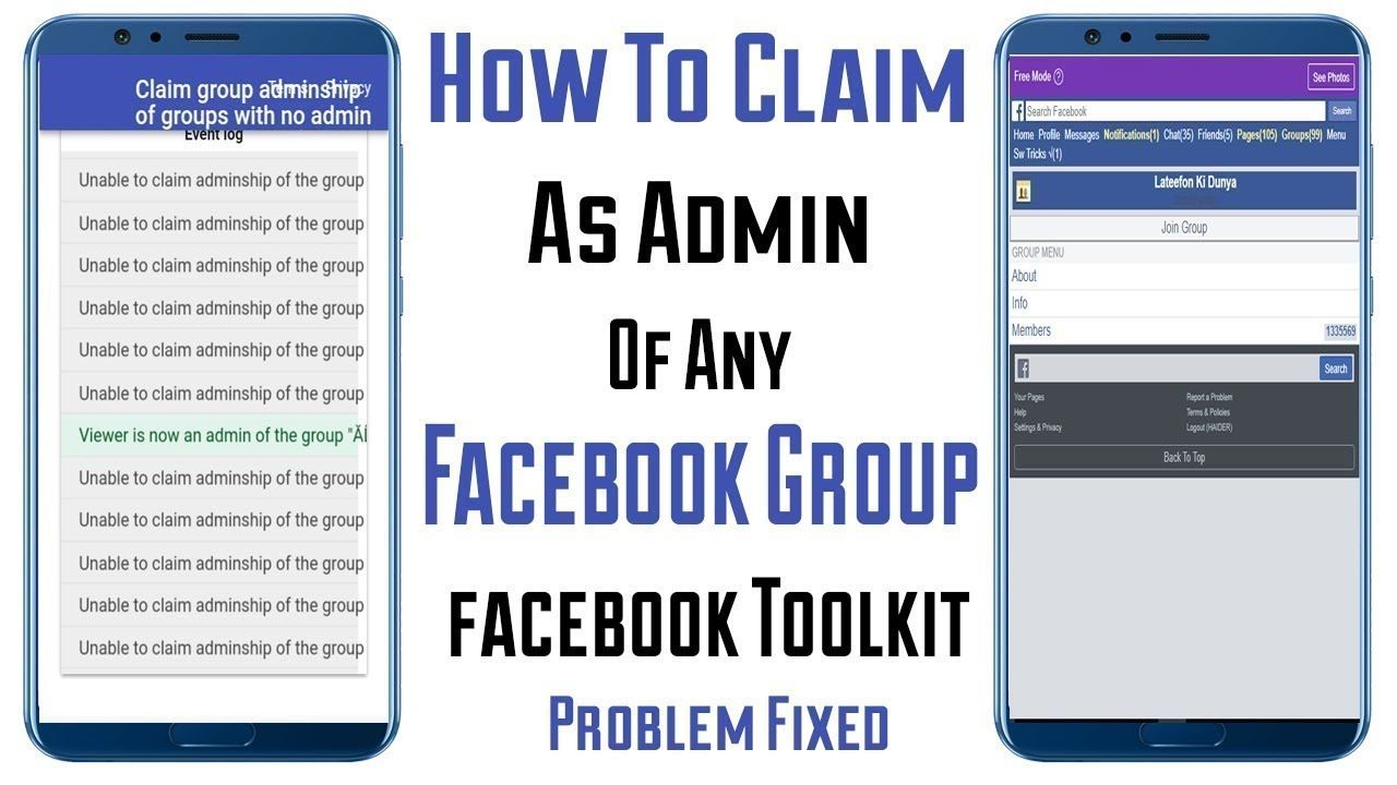 How to claim facebook group which have no admin from