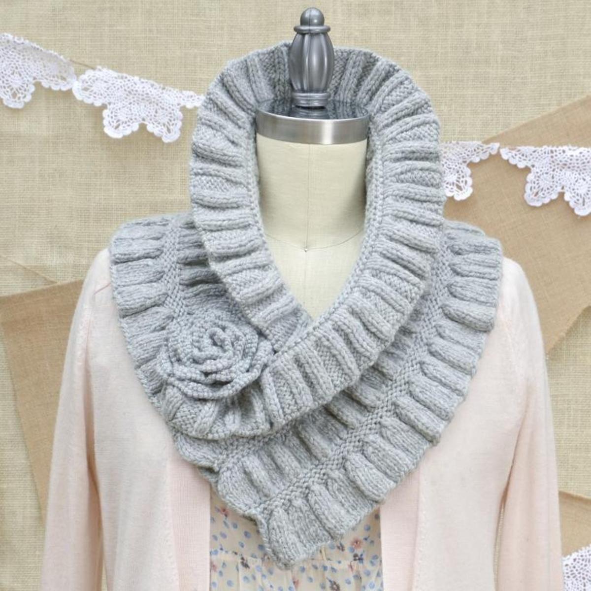 Cloudborn Ruffled And Ruched Scarf Knitting Kit   manualidades ...