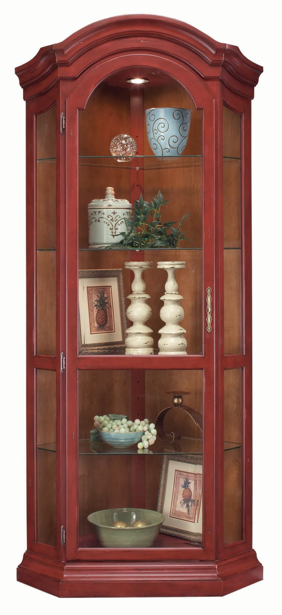 Merveilleux Panorama Corner Display Cabinet In Red | Philip Reinisch | Home Gallery  Stores