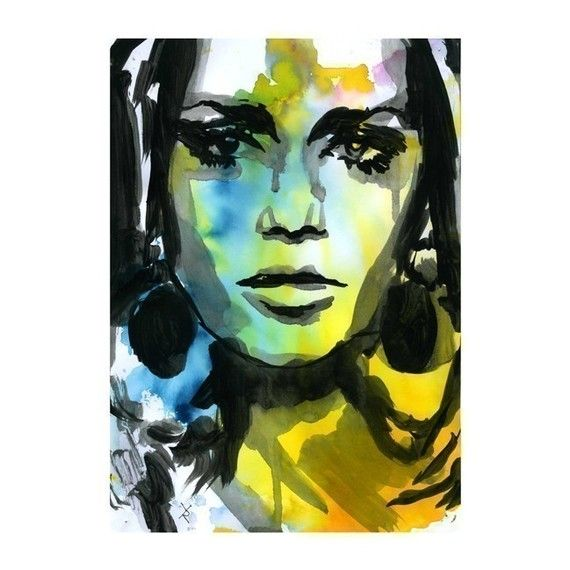 Watercolor Print Painting Mixed Media Acrylic Painting Poster Art