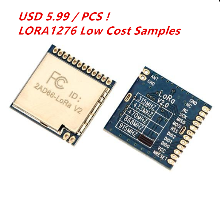 USD 2 / PCS ! LORA1276 868MHz LoRa Module With Arduino Code  Low