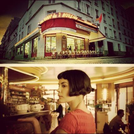 Cafe de Deux Moulins (The Two Windmills) - Amelie's workplace.