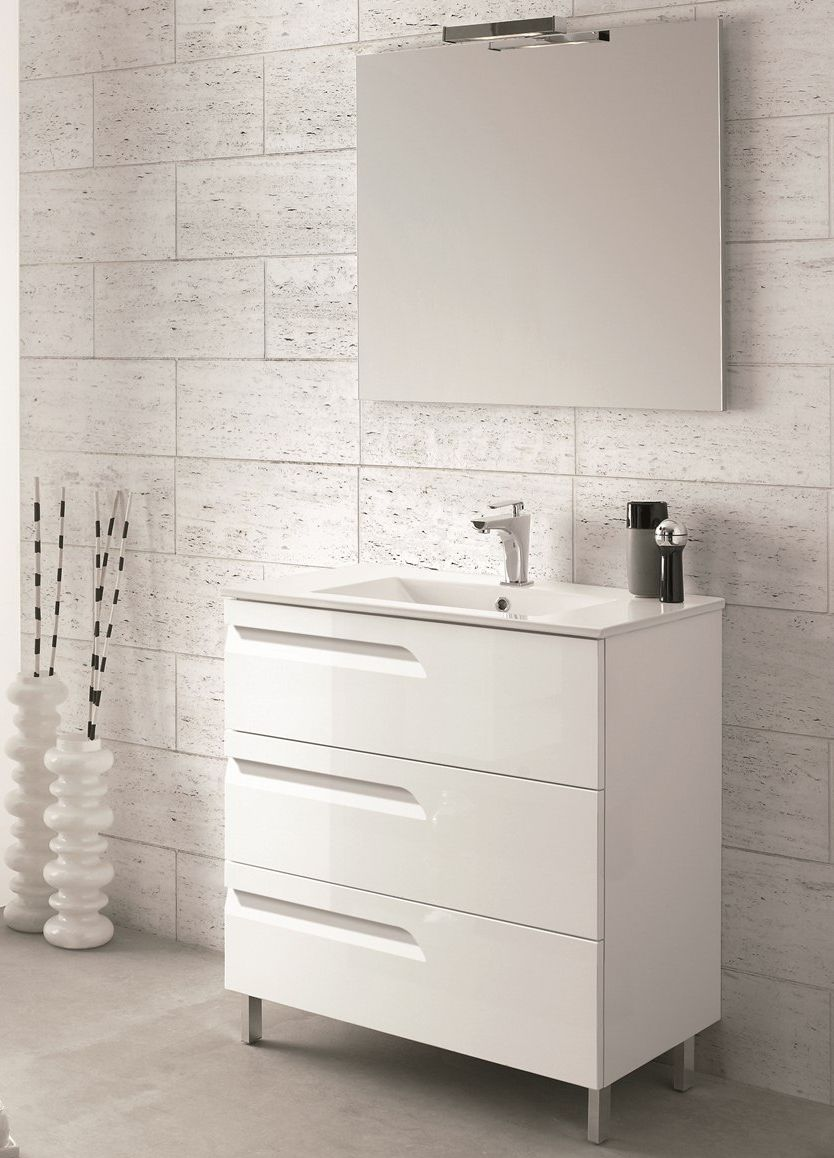 Accanto 24 Inch Modern White Single Sink Bathroom Vanity