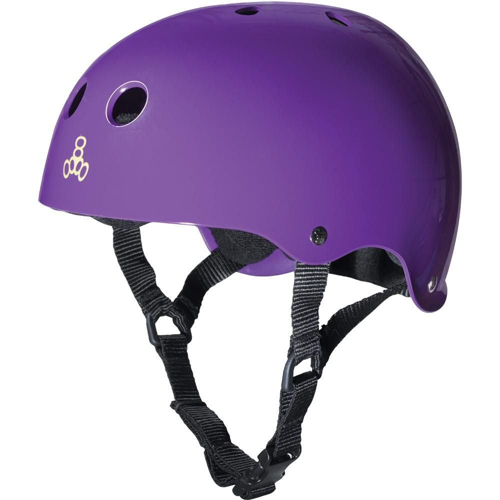 Triple Eight THE Certified Sweatsaver Helmet for Skateboarding Large // X-Large Black Rubber BMX and Roller Skating