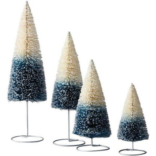 Martha Stewart Living? Ombre Bottle Brush Trees - Set of 4 (42 AUD