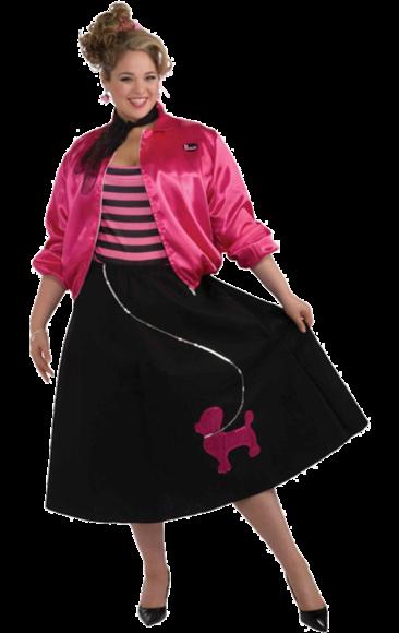 50s Poodle Girl Costume (Plus Size) Disfraz de talla