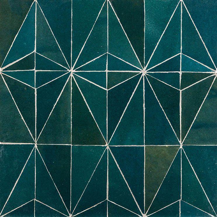 Zellige Trc7 Bleu Petrole Moroccan Zellige Tile Avec Images