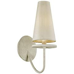 Marcel 14 1/4 High Gesso White Wall Sconce - #45H39 | Lamps Plus #gesso