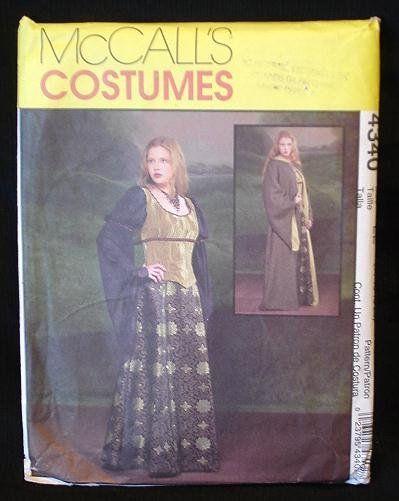 McCalls Costume Pattern Renaissance dress corset robe, Steampunk ...