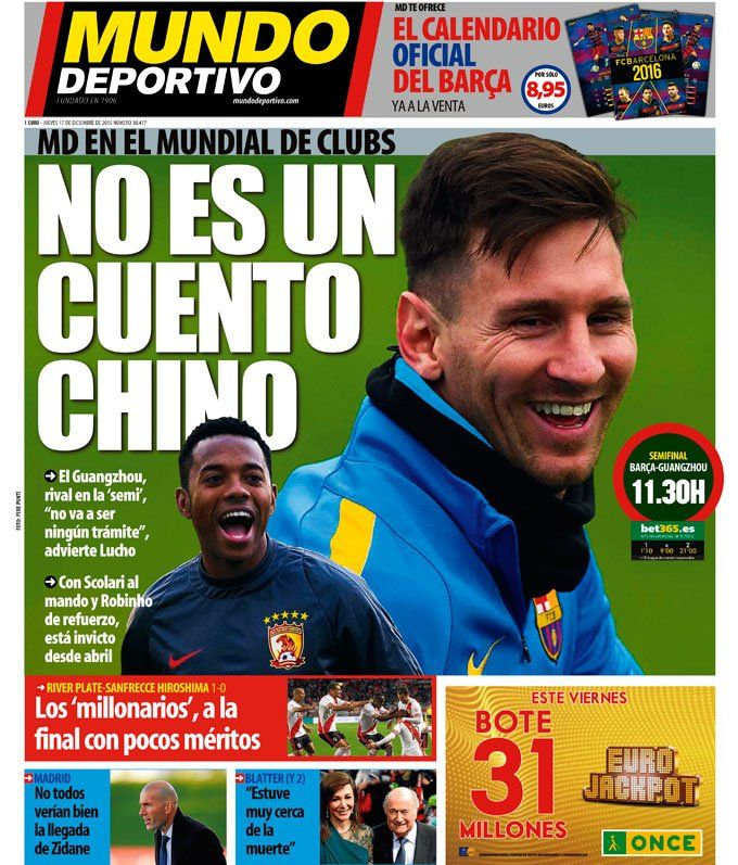 """Mundo Deportivo on Twitter: """"No es un cuento chino   #portada #deportes  https://t.co/H6YjKvvO3o https://t.co/OvcT5WX3Dp"""""""