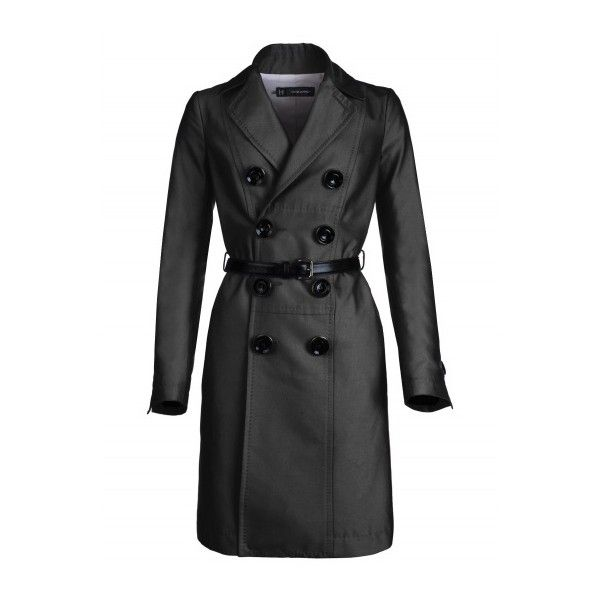 Dsquared Coat black ($929) ❤ liked on Polyvore