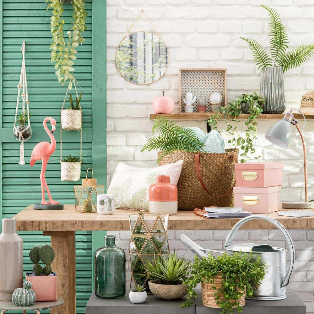 Mug En Porcelaine Blanche Cactus 1000 5 27 169070 2 Jpg 1000 1000 Deco Flamant Rose Deco Chambre Jungle Decoration Salon Rose