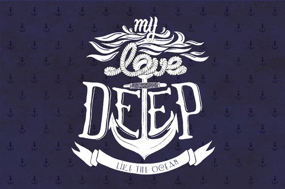 Check out Vector quote design about love by SoNice on Creative Market