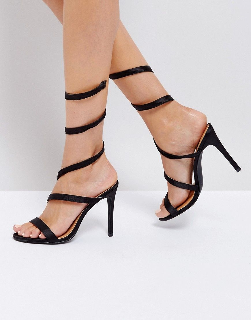 Public DesireHigh heeled sandals - black FWeOJMlL