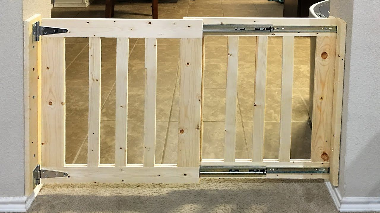 Instead Of Buying An Expensive Dog Gate Why Not Build A Diy Dog Gate It Will Be A Fun Experience To Customize A Doo In 2020 Diy Dog Gate Diy Baby