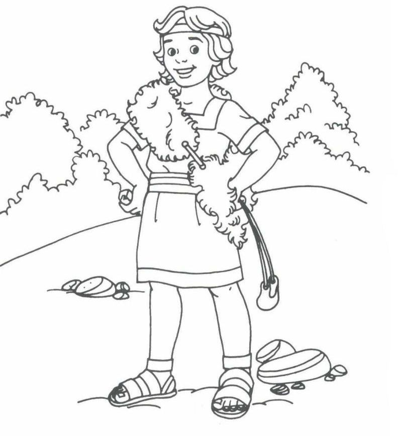 David Coloring Pages | David bible printables | king David ...